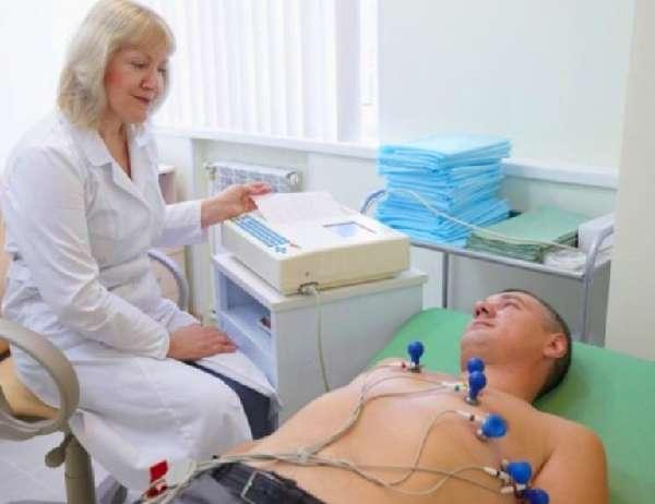 Человек на кардиограмме