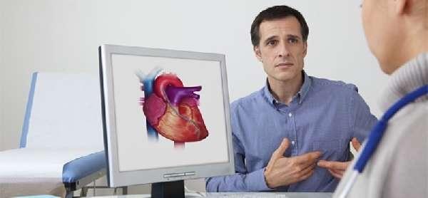Мужчина на приеме у кардиолога