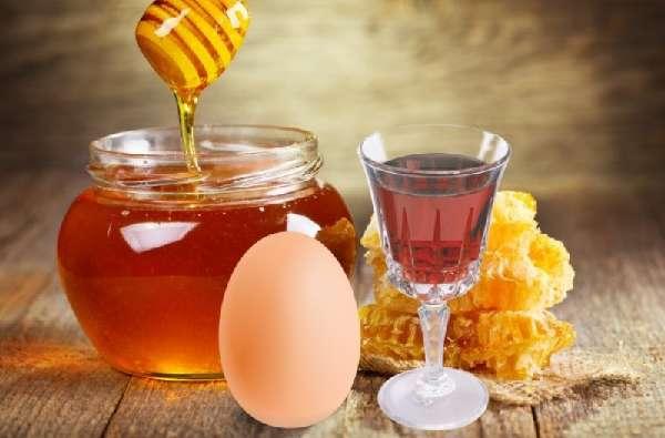 Мёд и яйцо с облепиховым маслом