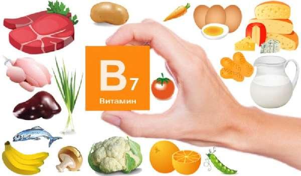 Продукты с содержанием витамина B7
