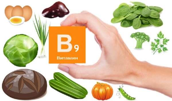 Продукты с содержанием витамина B9