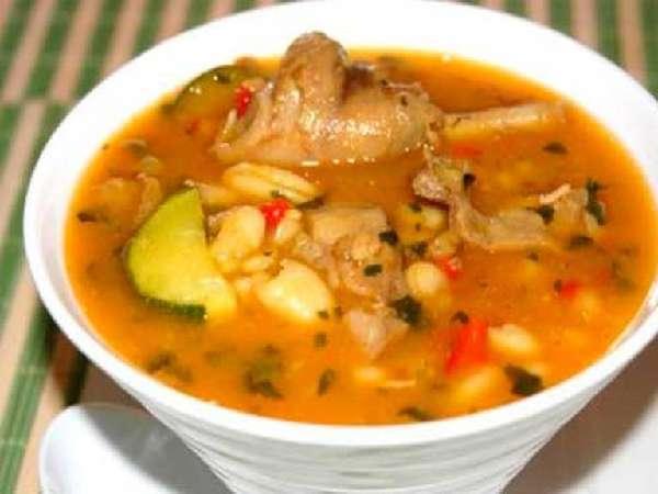 Суп с рисом и кроликом