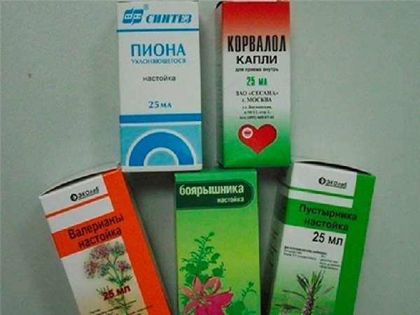 Упаковки успокоительных препаратов