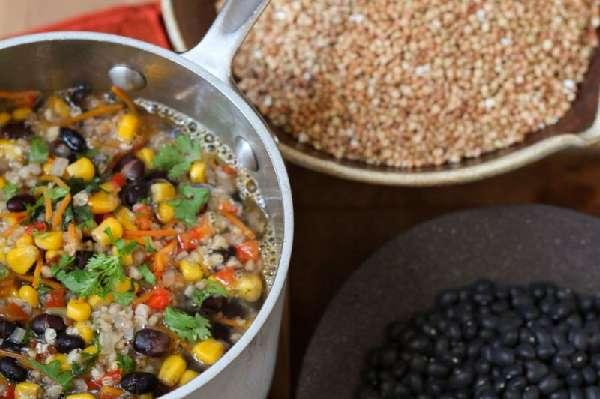 Овощной суп с гречкой