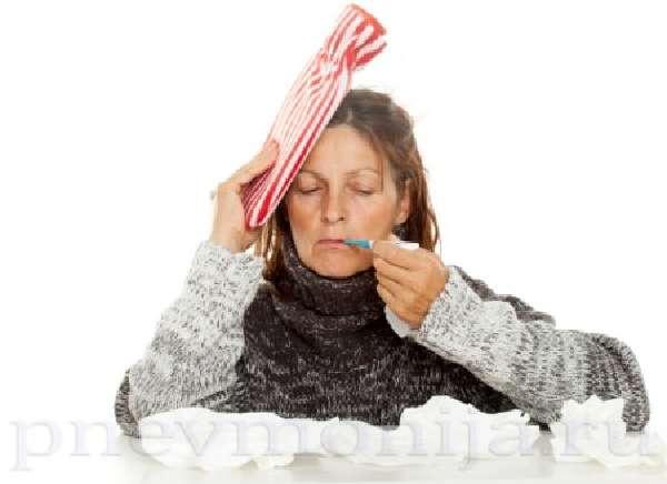 температура у больной правосторонней нижнедолевой пневмонией