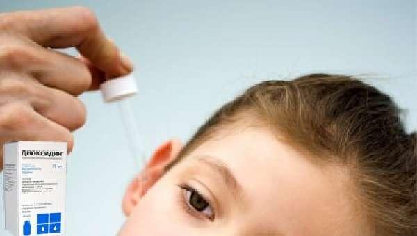 Применение Диоксидина при отите