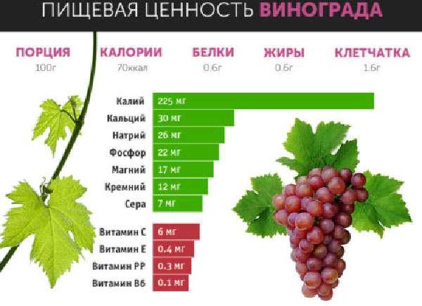 Как влияет виноград на кишечник